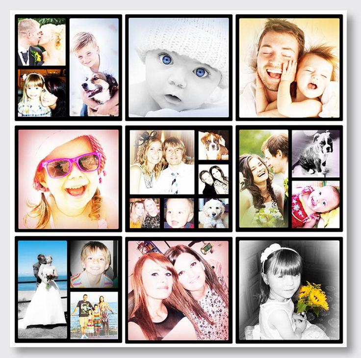Фотоколлаж на холсте с любимыми детьми - необычный подарок для семьи!