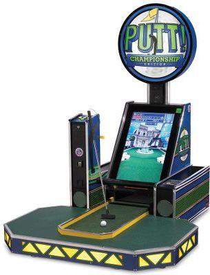 Putt Putt Arcade Game Uses Real Golf Ball