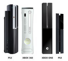 Size comparison: PS3 and Xbox 360 vs. Xbox One and PS4  I am liking he ps4 over the Xbox... And I am a ms fan boy... < I agree with this guy.. definitely liking the PS4..then again I love PS soooo I guess it doesn't matter lol But I do, do my research! ^.^
