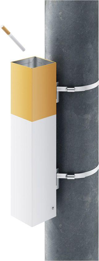 Pepelkus outdoor cigarette receptacle | by Art. Lebedev Studio