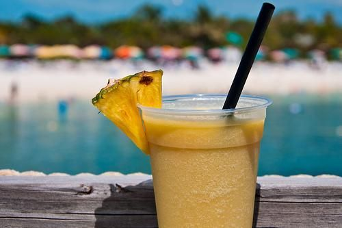 Konk Cooler Recipe served at Castaway Cay in Disney Cruise Line at Disney Cruise Line***3 oz. Light Rum (Suggestion - Malibu or Parrot Bay)*** 3 oz. Dark Rum (Suggestion - Cruzan Black Strap)*** 4 oz. Orange Juice*** 8 oz. Cream of Coconut (Suggestion - Coco Casa)*** 6 oz. Passion Fruit Juice Concentrate (Suggestion - Welches)*** 3 oz. Ice, blend