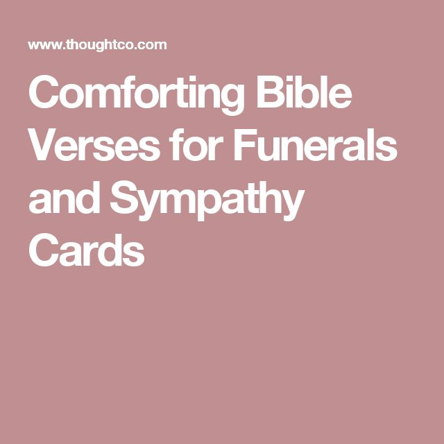 Comforting Bible Verses for Funerals and Sympathy Cards