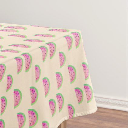 Watercolor Watermelons Tablecloth - decor gifts diy home & living cyo giftidea