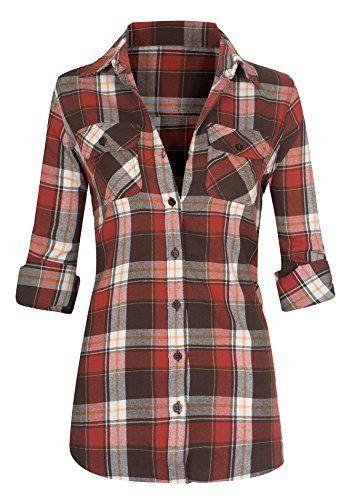 Women's Classic Button Down Roll Up Long Sleeve Plaid Fla... https://www.amazon.com/dp/B01MSZZ0WA/ref=cm_sw_r_pi_dp_x_u99yybYZ078ET