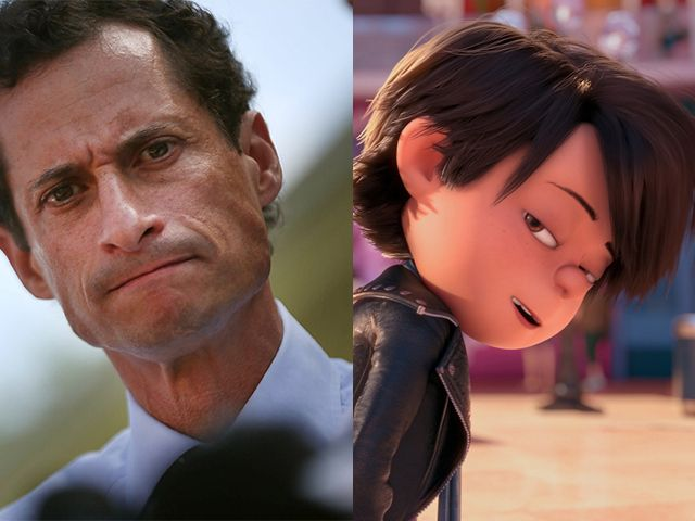 Anthony Weiner (Left, Photo/Getty) compared to Despicable Me 2 character Antonio Perez. (Photo/Universal Pictures)