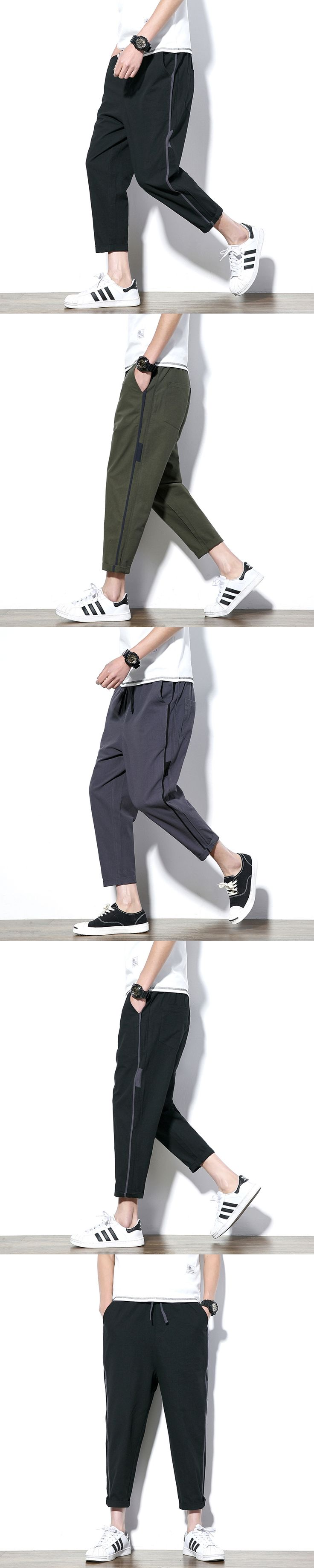 Large Size M-5XL 2017 Summer New Cotton Linen Male Loose Harem Pant High Quality Fashion Casual Men Wide Leg Trousers