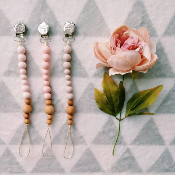 Lolli Colour Block Wood & Silicone Beads // LouLouLollipopFinery ... pictured on far right is Dusty Rose