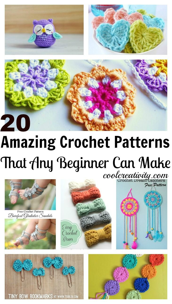 20 Amazing Crochet Patterns That Any Beginner Can Make #Crochet #Pattern #Beginner