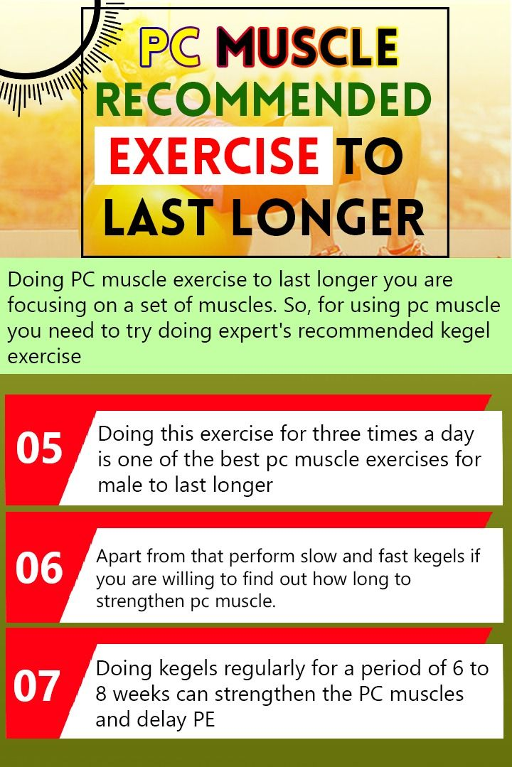 For to muscle male last pc longer exercises What is