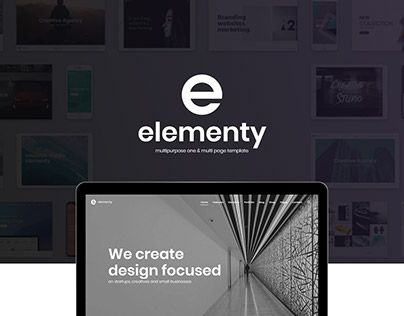 """Check out new work on my @Behance portfolio: """"Elementy - Multipurpose One & Multi Page Template"""" http://be.net/gallery/60657551/Elementy-Multipurpose-One-Multi-Page-Template"""