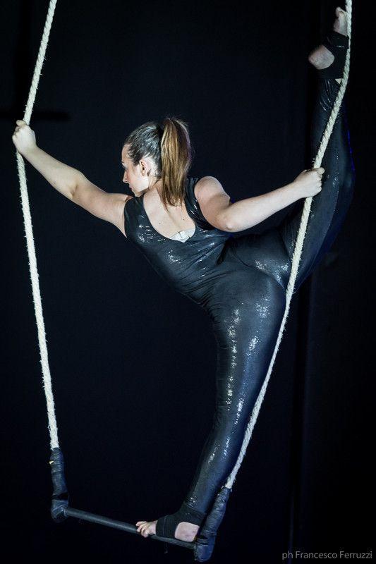 la #ginnastica aerea #saggio #circo #trapezio