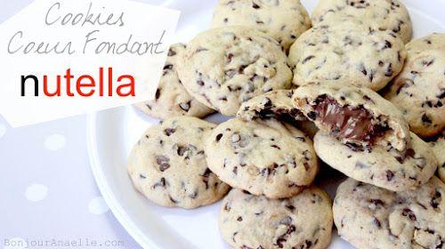Cookies Coeur fondant au Nutella