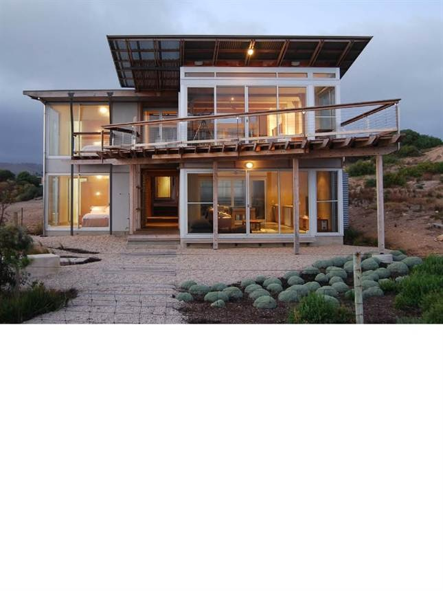 """Project 2: A whale of a Beach house. Architects: Phil Harris & James Gill. """"it's been teased apart to let the light and the air in, and to create a diversity of space"""". Light Home Magazine : Light Home Winter 2012, Page 34"""