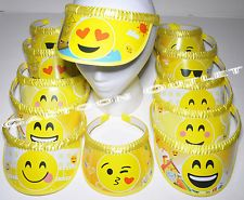 12 PC EMOJI HEAD VISOR PARTY FAVORS GIRLS KEEPSAKE GIFTS HEAD BANDS EMOTIONS