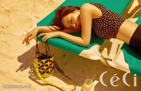 Sulli Jadi Gadis Pantai Berkelas untuk Ceci