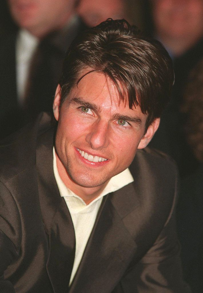Tom Cruise gave a sexy smile while visiting the UK in June 1999.