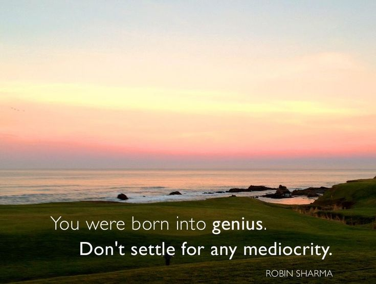 Robin Sharma Quotes | Don´t Settle For Any Mediocrity