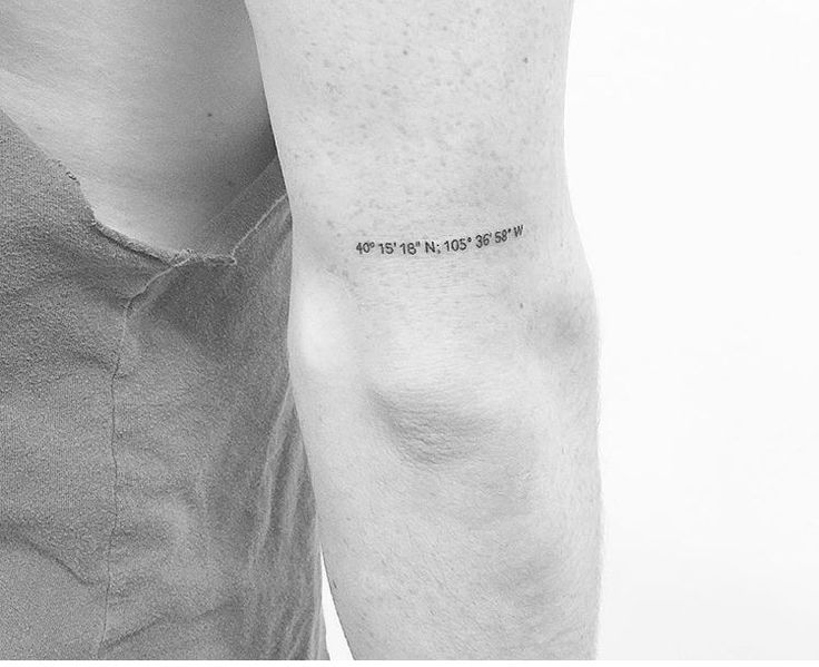 Coordinates tattoo: don't like the font but like the body placement