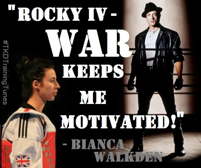 Bianca Walkden likes to listen to the #Rocky Soundtrack whilst training. #TKDTrainingTunes