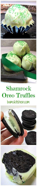 Shamrock Oreo Truffles/ #truffles #saintpatricksday #chocolate / COOKIES/ DAIRY-FREE/ ST. PATRICK DAY TREATS/ NO BAKE/ SUPER EASY/ https://www.hwcmagazine.com
