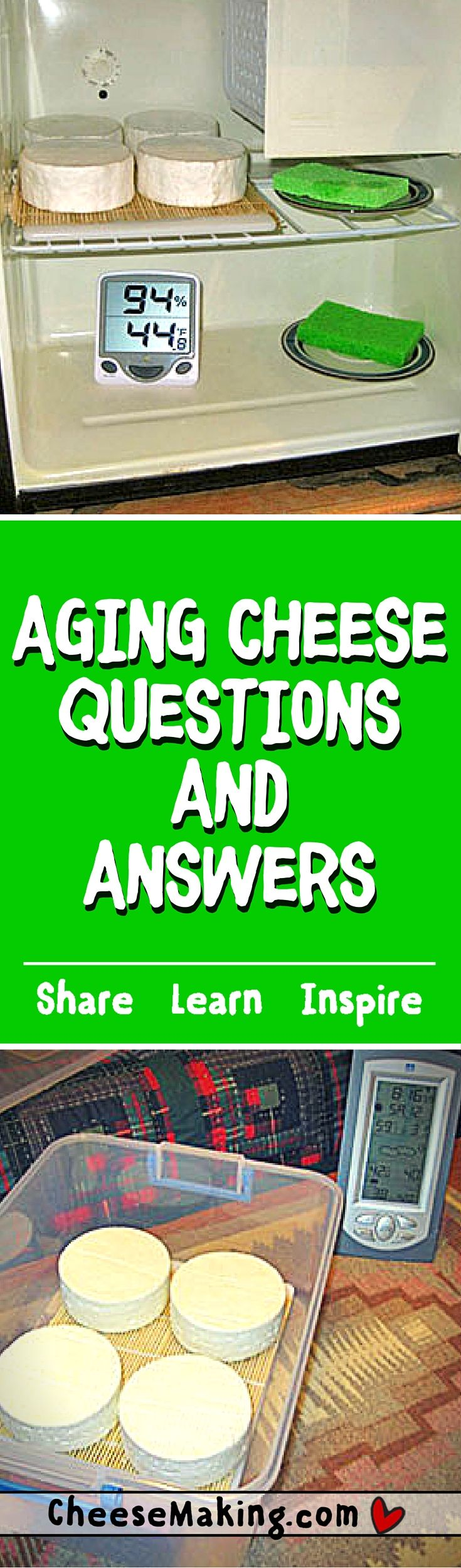 Find Answers to all of your questions on aging cheese at home.