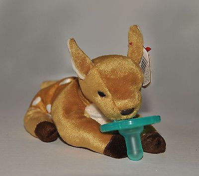 "Baby Boy Girl Fawn Deer Soothie Paci Pacifier ""Binkie Buddy"" Plush Toy Gift"
