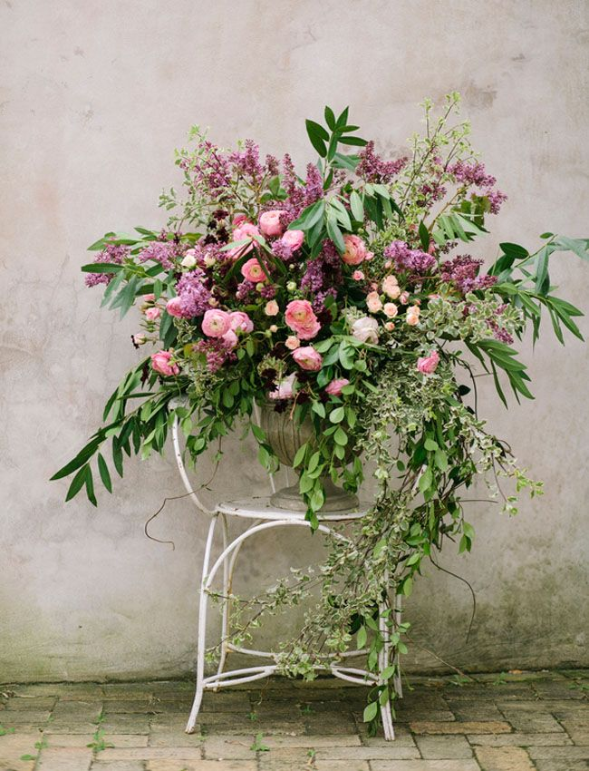 giant + whimsical floral ceremony piece