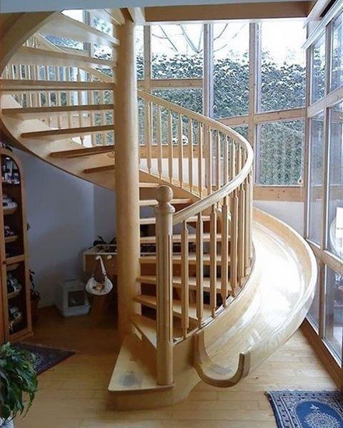 Лестница-горка☺️
