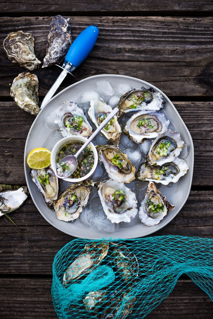 Meandering Marin County   Fresh Oysters with Mustard Seed, Cucumber, Dill…