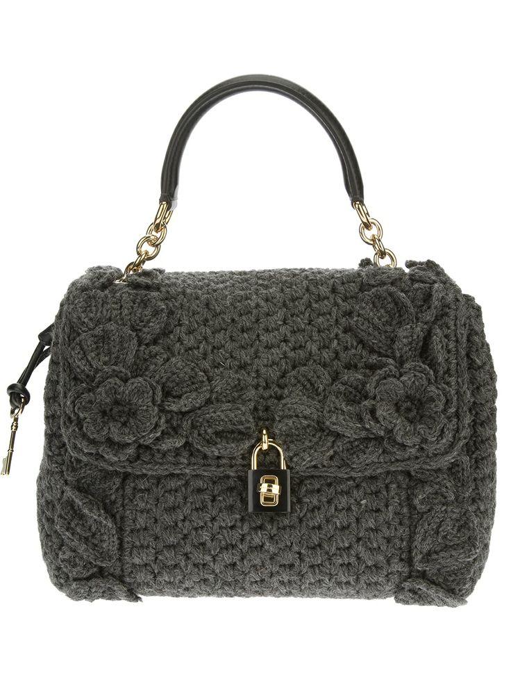 BESTBITS : FASHION FAVORITES: DOLCE & GABBANA 'Dolce' knitted shoulder bag $2600