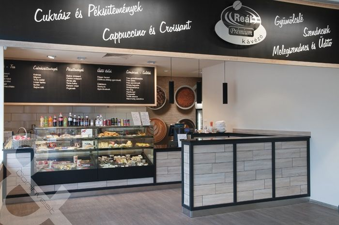 Reál Élelmiszer Kávézója, Budapest / Coffee shop at Real store, Budapest #coffee #cafe #interior #design #coninvest #reference