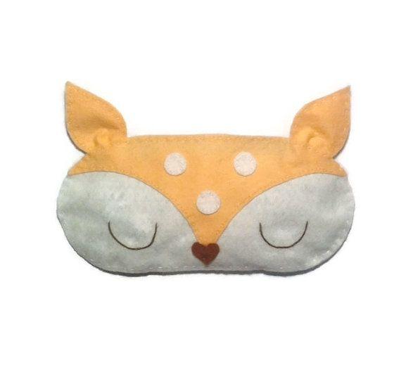 Deer eye mask, Deer sleep mask, Animal sleep mask, Felt eye mask, Woodland sleep mask, Cute sleep mask, Unusual sleep mask