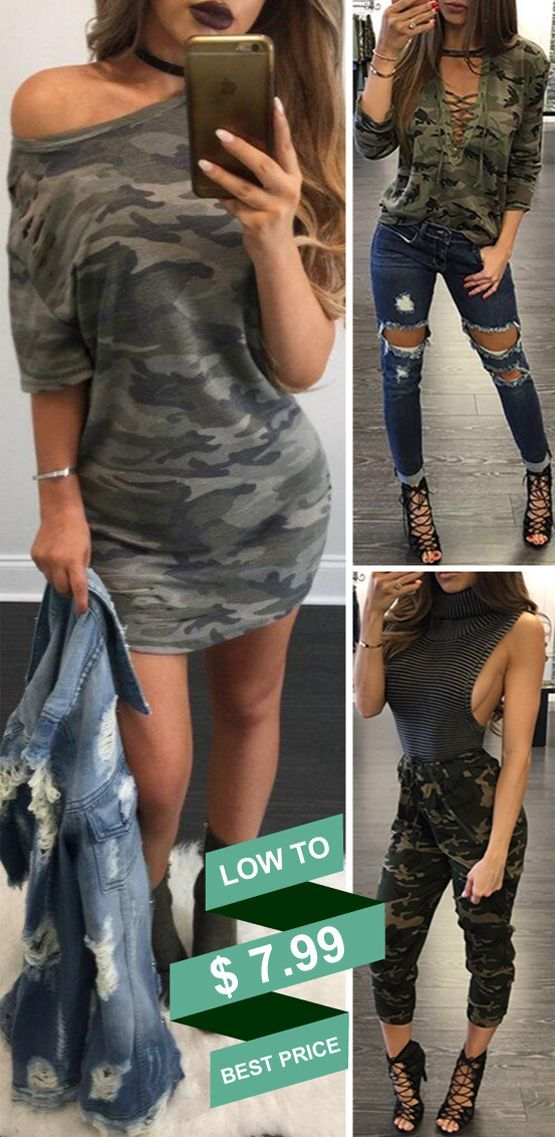 Young Fashion Curving Camouflage Style Collection
