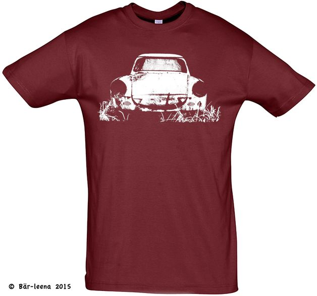 Männer Geschenke - T-Shirts mit Print - T-Shirt Männer Trabbi (Trabant 500) navy - ein Designerstück von Baer-leena bei DaWanda