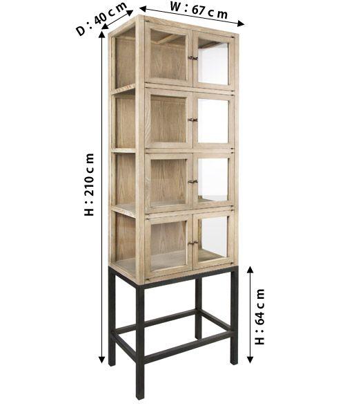 θブランド  Blanc d'Ivoire(ブランディボワール)          Item Spec        サイズ:最大外寸 W67cm×D40cm×H210cm  アイアン脚の高さ:H64cm  引き戸内寸(1つあたり):W64cm×D35cm×H33.5cm   素材:木製・アイアン   *コーティングをしていませんので熱いものや濡れたものを置きっぱなしにして置くと輪じみが付いたりすることがありますが、気にせず使い込むことによって独特の風合いが出てきます。これは合板などの安い素材でを使った家具ではできないことです。             配送について       納期:在庫状況により1週間~   送料:ヤマトEランク    北海道、沖縄、離島方面への送料は別途お見積りさせて頂きます。    備考:代引き不可     必ずお読みください:家具の購入について                 POINT       縦長の使いやすい大きさのキャビネット、サブリナ。  洗練されたフレンチモダンな印象です。   アイアンの脚とブリーチした上質なオーク材との組み合わ...