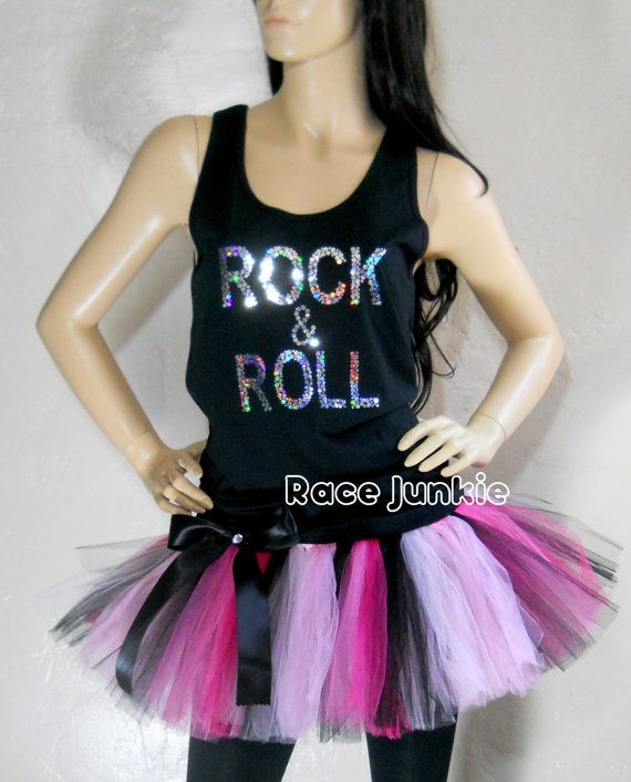 I love this set for Rock and Roll marathon! Its perfect for a night run or glow run too!    Please read the sizing chart on both the shirt and tutu