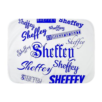 Royal Blue Sheffey Fonts - 9576 Baby Blanket