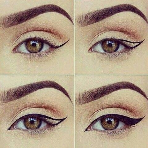 Perfect , delineated eyebrows dramatic and sexy look.