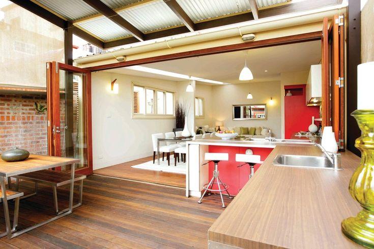 indoor outdoor kitchen - Google Search