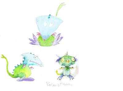 The Little Dragon. Drawn by Robert Harvey