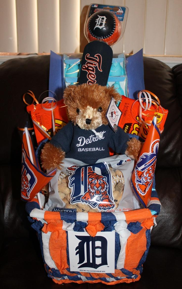 Detroit tigers basket themed gift baskets detroit gifts