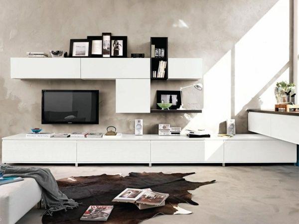 29 Schon Weisse Wohnwand Dekorieren Deko Tv Stand Showcase