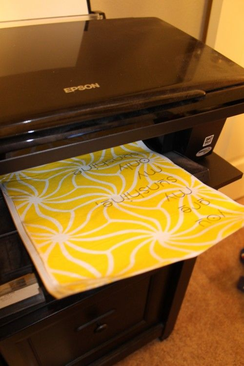 How to print on fabric - What?! Oh, the possibilities...- Great for printing quotes and putting them in a frame to hang!