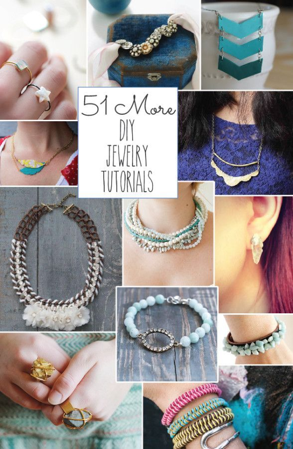 51 More DIY Jewelry Tutorials  - this is a huge roundup of diy jewelry projects!