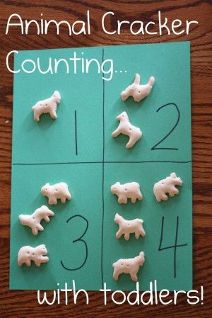 Perfect for toddlers!  Animal Cracker Counting and One to One Correspondence Practice