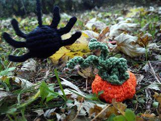 Horgolt tököcske és pókocska   Mirtusz : Cicajátékok - Halloween