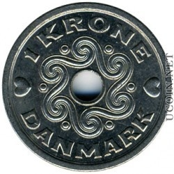 one krone coin 18 cents in USD