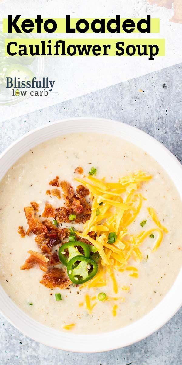 Keto Blumenkohlsuppe / Eine cremige und wohlig geröstete Blumenkohlsuppe, die mit …   – KETO AND LOW CARB SOUPS