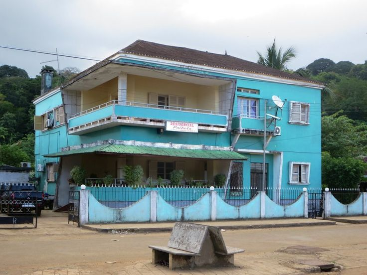 Pensao Residencial Palhota stands in the center of Santo Antonio on Principe Island, São Tomé and Príncipe.