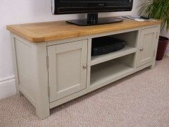 Aspen Painted Oak Sage Grey Large TV Unit From City